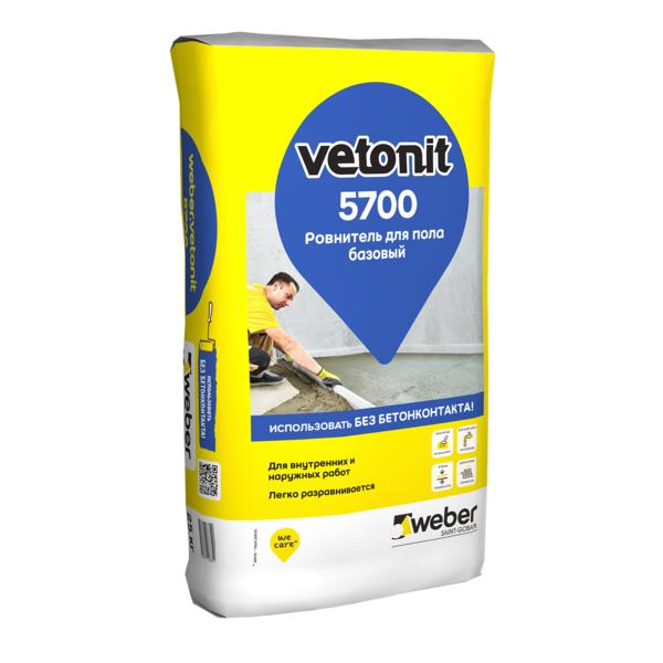 Ровнитель для пола Вебер Ветонит 5700 базовый на цементном вяжущем 25к - купить в Рощино, отзывы. ТД «Вимос»